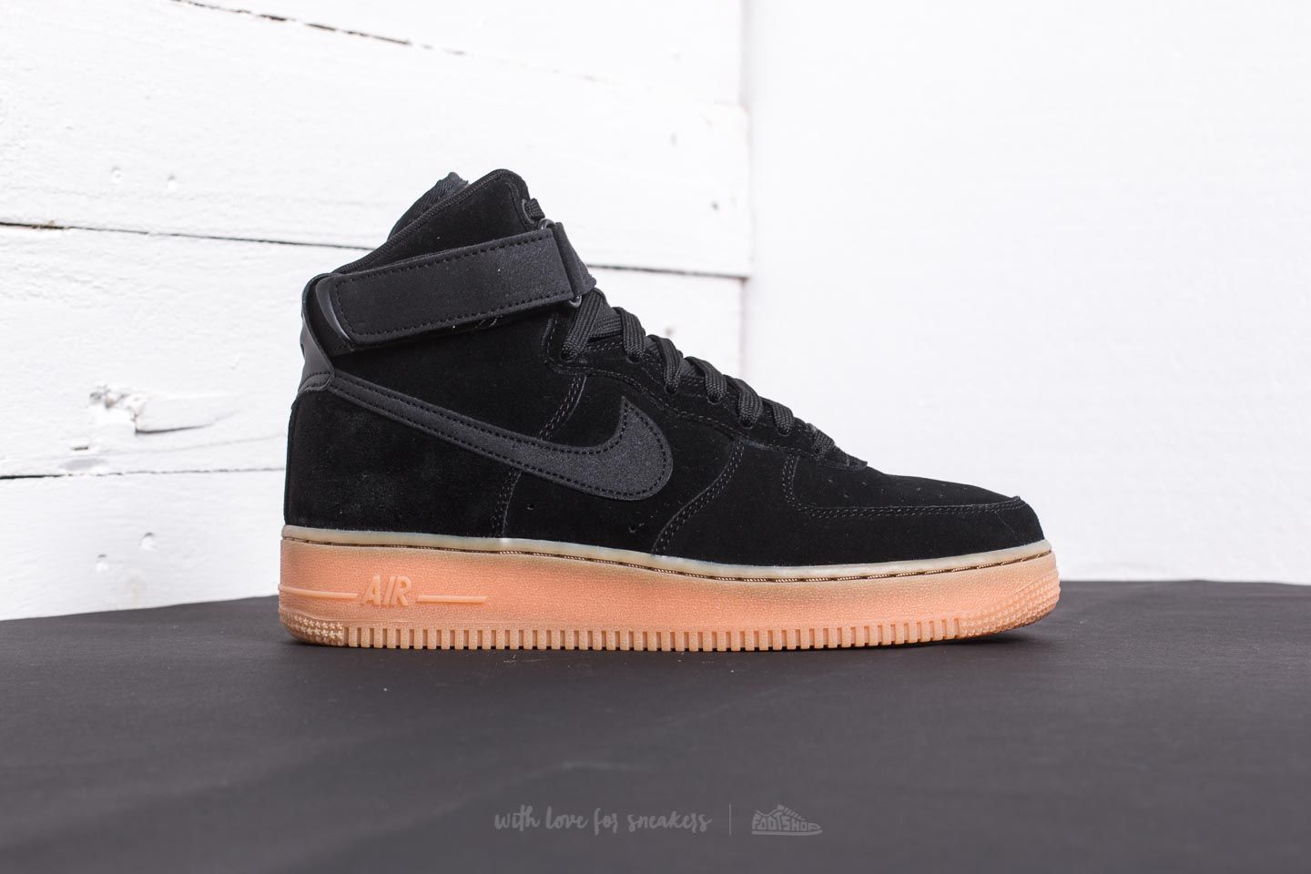 Nike Air Force 1 High '07 LV8 Suede Black/ Black-Gum Med Brown
