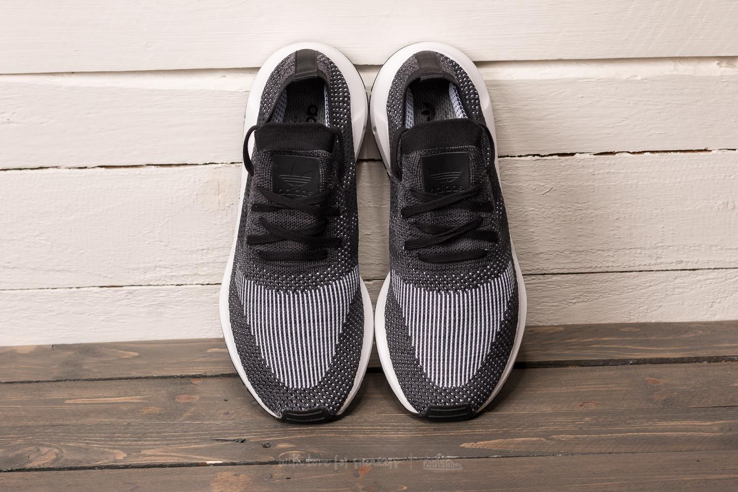 Adidas Swift Run Primeknit Black Grey Five Medium Grey Heather 47