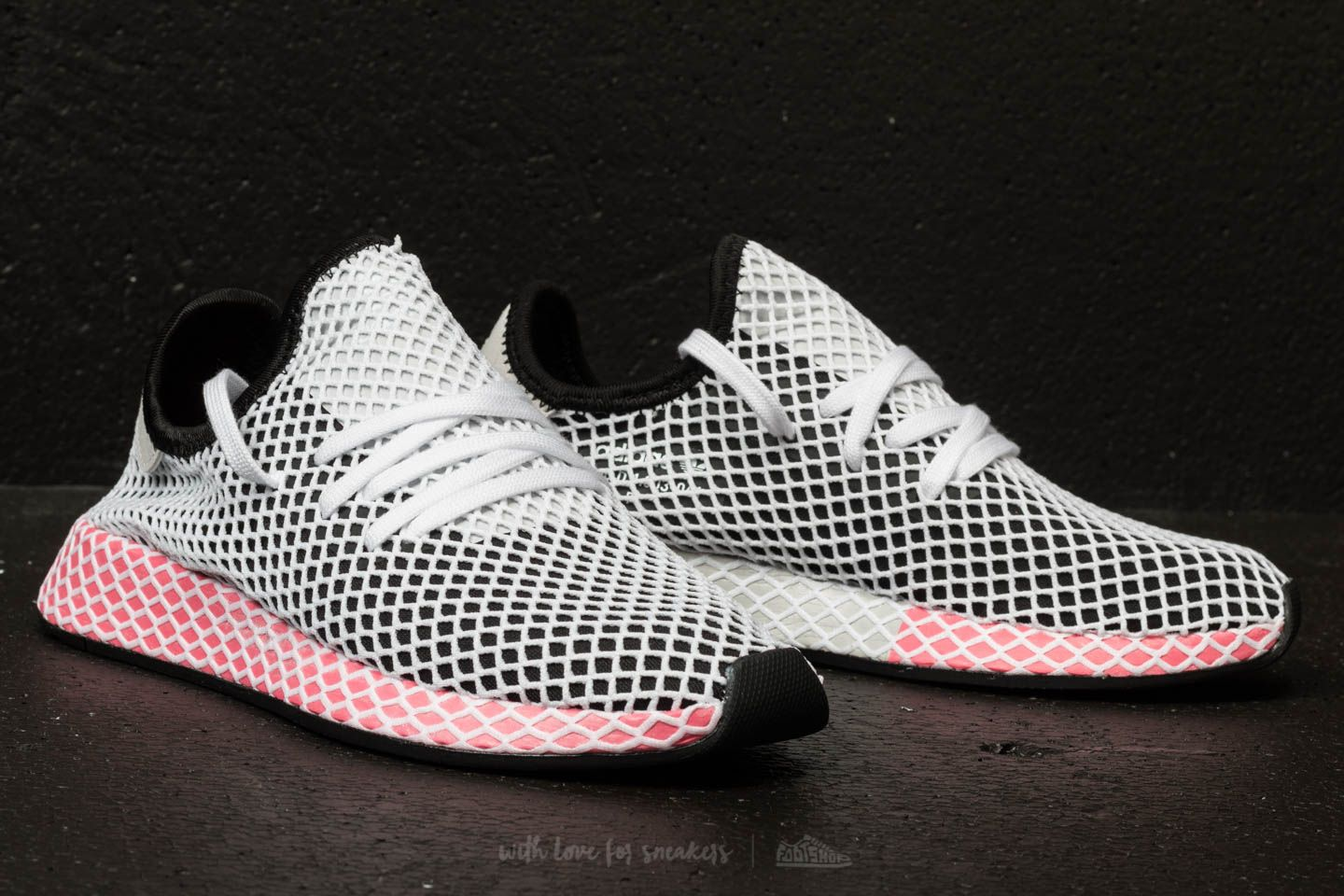 53b58ac25663a Best Wholesaler adidas Deerupt Runner W Core Black Core Black Chalk Pink at  a great price ...