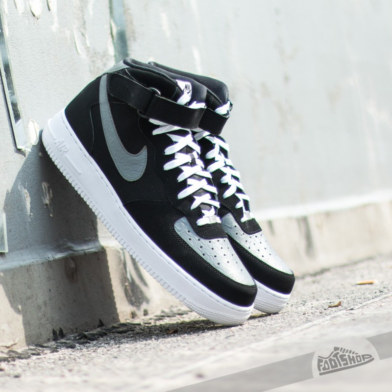 Nike Air Force 1 Mid ´07. Black/Cool Grey-White