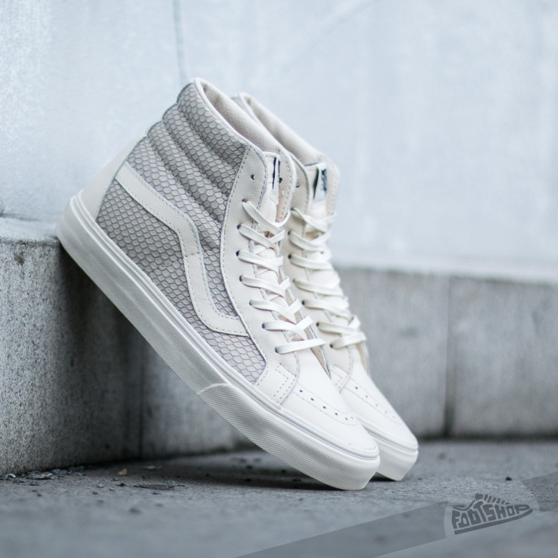 Vans Sk8-Hi Reissue + (Snake Leather) Antique White