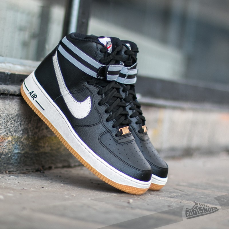 nike air force 1 high 07 black silver wolf grey gum light