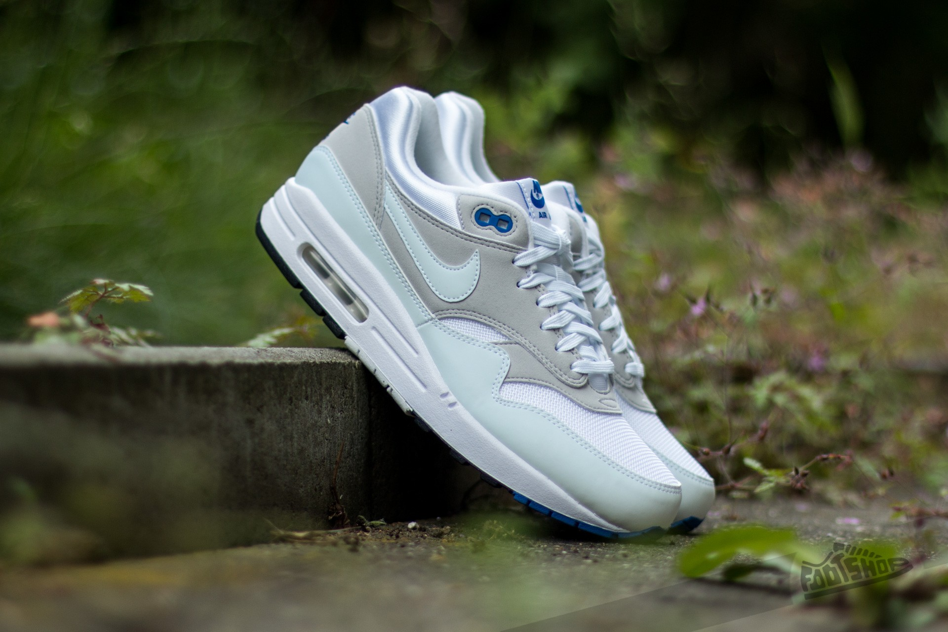 Nike Air Maxim 1 White Varsity Royal Neutral Grey Shoes