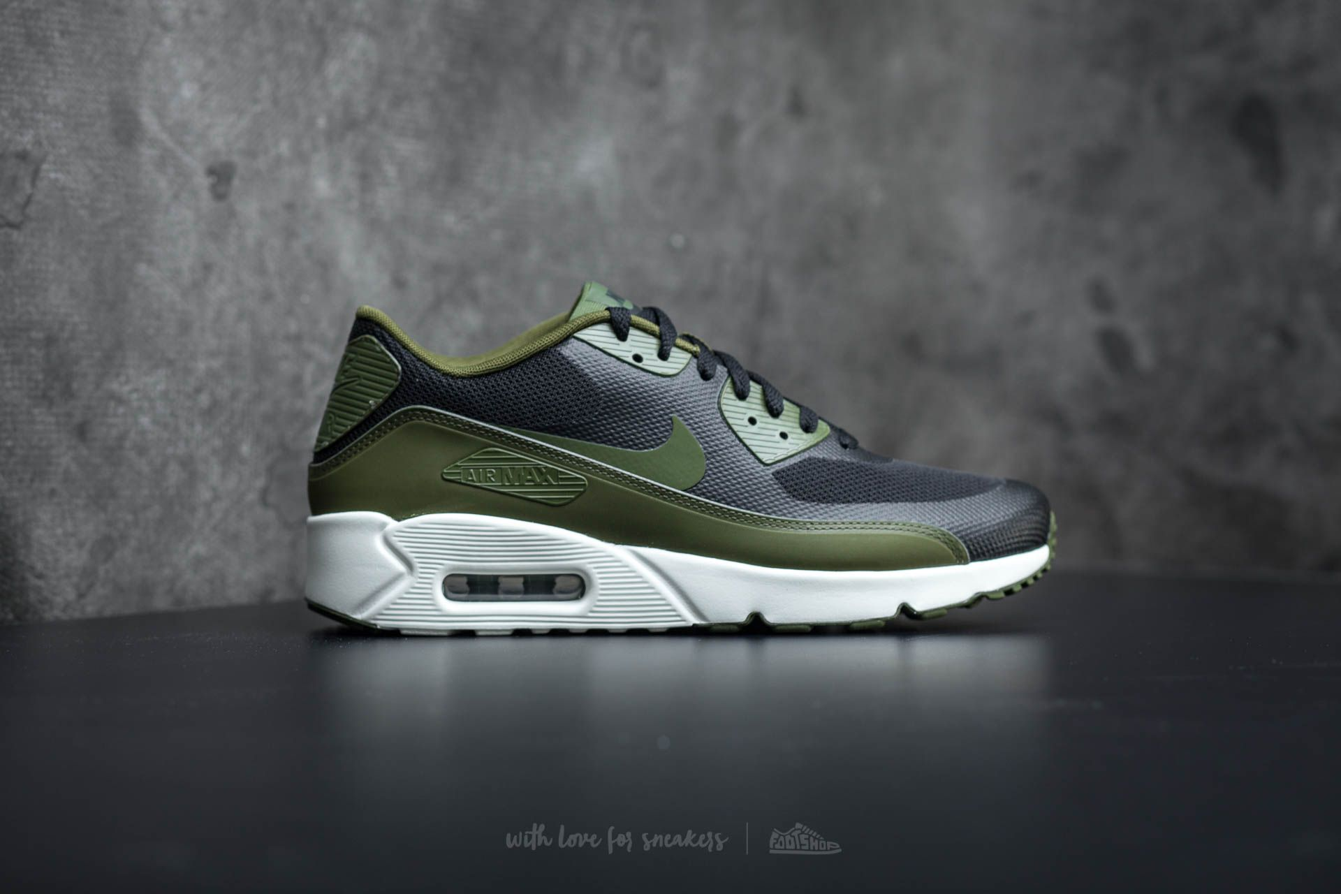 new concept 20451 60a98 Nike Air Max 90 Ultra 2.0 Essential Dark Grey Black Womens Mens Shoes